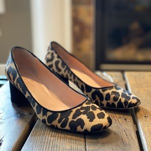 Kate Spade New York leopard block heel pump sz 7
